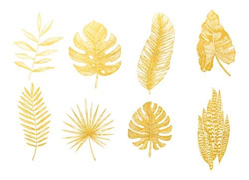 Ceramic Decals - Overglaze Gold - Enamel Decal - Waterslide Decal Gold Leaf 01