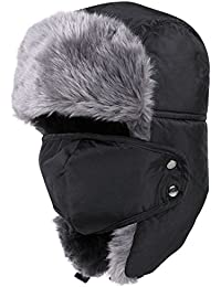 Winter Trooper Trapper Hat Ear Flap Hat Warm Hunting Hat Adjustable Waterproof Windproof Skiing Cap