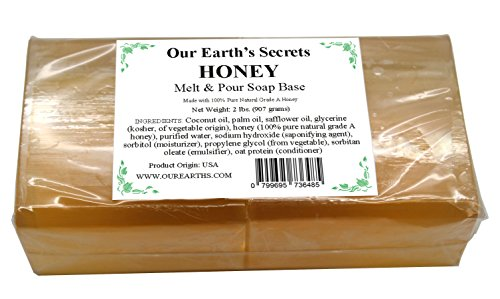 (Honey - 2 Lbs Melt and Pour Soap Base - Our Earth's)