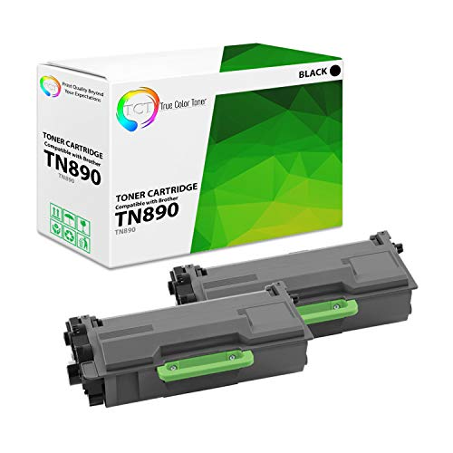 TCT Premium Compatible Toner Cartridge Replacement for Brother TN890 TN-890 Black Ultra High Yield Works with Brother HL-L6400DW L6400DWT L6250DW, MFC-L6900DW L6750DW Printers (15,000 Pages) - 2 Pack
