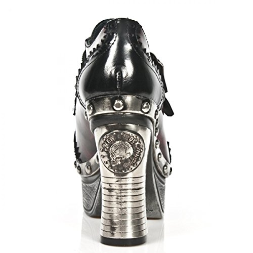 New Rock Boots M.z016-l3 Eleganti Stivaletti Da Donna Urban Neri