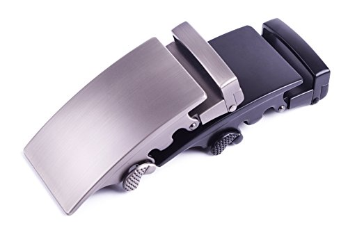 Automatic Ratchet Belt Buckle Vintage Metal Dress Accessories for Men More Colors (Custom Pewter Belt Buckles)