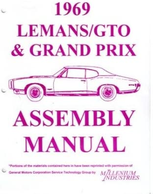 1969 Pontiac Grand Prix Lemans GTO Assembly Manual Instructions Illustrations