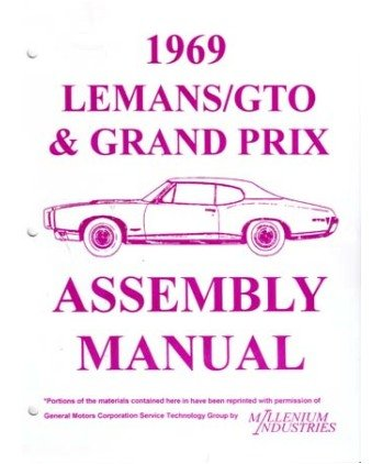 1969 PONTIAC GRAND PRIX LEMANS GTO Assembly Manual