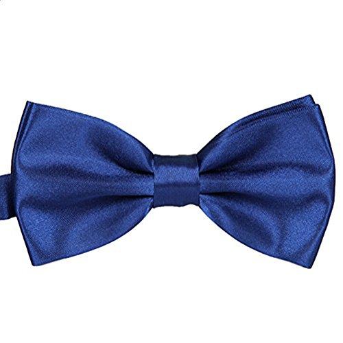 Bowtie Wedding Westeng Men's Necktie Adjustable Bow Party Tie Blue Ties Solid 1 Tuxedo ZZvOqwxEC