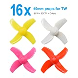 #6: BETAFPV FPV Props 4 Sets 40mm 4-blade Micro Whoop Propellers with 1.0mm Shaft for Inductrix FPV Plus Kingkong Tiny 7 etc