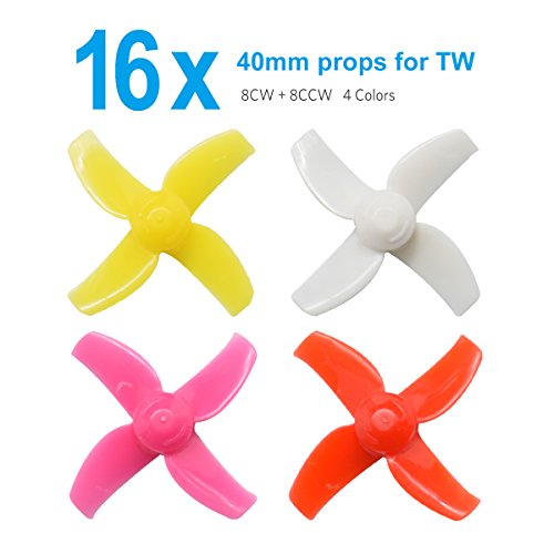 BETAFPV FPV Props 4 Sets 40mm 4-blade Micro Whoop Propellers with 1.0mm Shaft for Inductrix FPV Plus Kingkong Tiny 7 etc