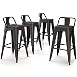 VIPEK 26 Inches Metal Counter Height Bar Stools