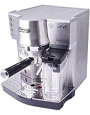 De'Longhi EC 860.M Espressoportagare, espressomaskin med mjölksystem för krämig cappuccino och latte machiato med en knapptryckning, 1 liter vattentank, fullmetallhölje, silver