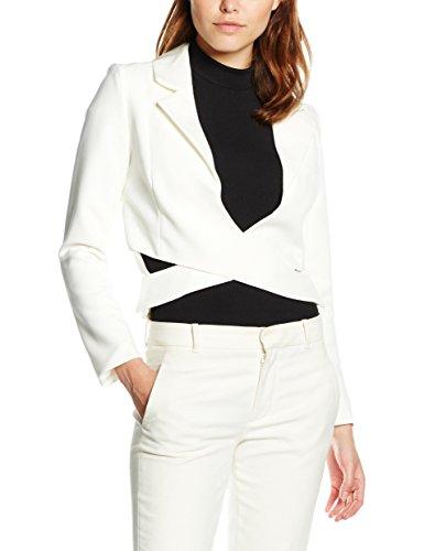 Lavish Alice Off White Crossover Front Blazer, Blouson Femme Blanc (White)
