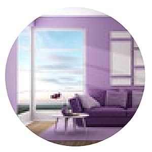 alfombrilla de ratón Púrpura sala de estar contemporánea - ronda - 20cm