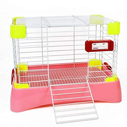 WTTTTW Jaula para Conejos, Conejito Hutch, Coop House Guinea Clean ...