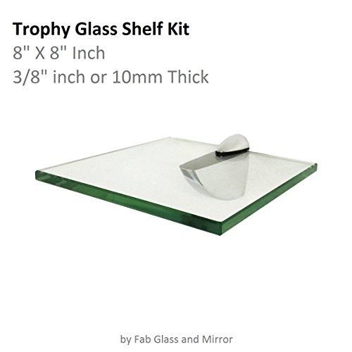 Fab Glass and Mirror Trophy Glass Shelf, 8