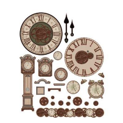 Tole Clock (6 Pack 3-D Papier Tole Die Cuts Rustic Clocks (Product Catalog: Mixed Media & Embellishments))