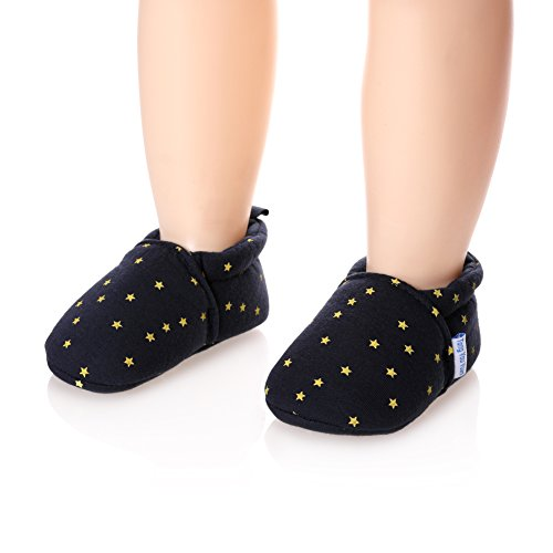 (Unisex Baby Cute Cartoon Infant Warm Cotton Shoes Anti-Slip Soft Sole First Walkers Shoes (Stars, 6-11 Months))