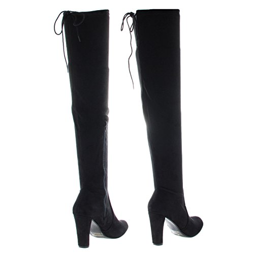 Over The Knee Pointy Toe Stiletto Heel Dress Boots #Donnieblack PUUoWSXB