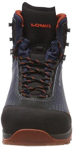 Lowa Irox GTX Mid, Stivali da Escursionismo Alti Uomo Multicolore (Navy/Ruggine 6975)