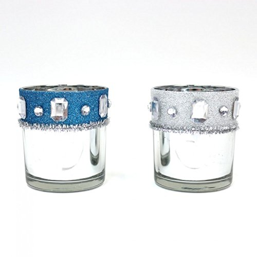 Holiday Essentials Reflective Votive Candle Holders by