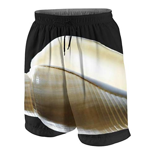Earth Shell Youth's Swim Trunks Beach Board Shorts Bathing Suits for Teen White