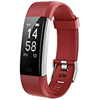 Mpow Thermoplastic Polyurethane Heart Rate Sleep Monitor 14 Exercise Modes Activity Fitness Tracker (Red)