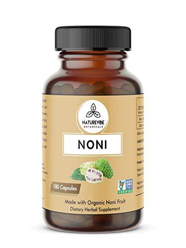 180 Capsules Organic Noni Fruit -100% Organic Noni Fruit Powde