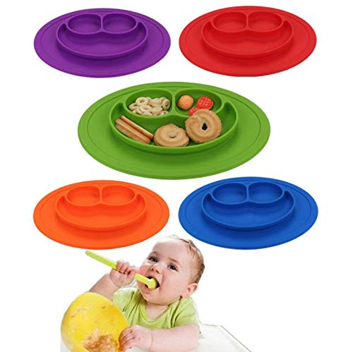 20 x 25 cm SAYGOGO 181008YANG2 Baby Silicone Placemat Anti-Fall Baby Child Sucker Bowl