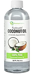 Fractionated Coconut Oil Massage Oil - 32 oz Skin Moisturizer 100% Natural & Pure Carrier Oil Therapeutic Odorless - for Skin Hair & Nails Premium Nature