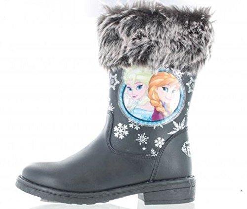 Pour Filles Disney Frozen Anna & Elsa Flocon De Neige Fourrue Bottes
