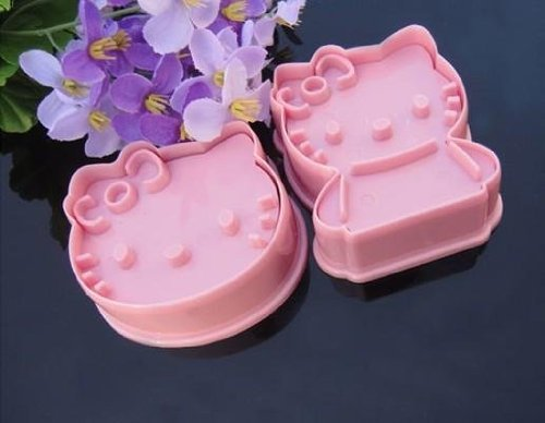 Buyinhouse Cute Party Food Decorations Tools 1 Set Hello Kitty Cookie Cutter - Pink