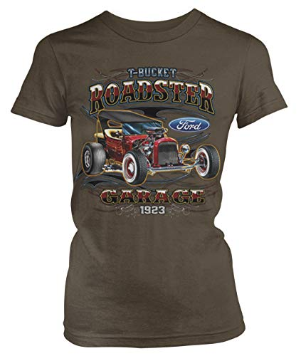 - Amdesco Junior's 1923 Ford T-Bucket Roadster T-Shirt, Dark Chocolate XL