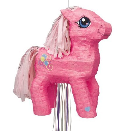 Unique 3D My Little Pony Pinata, Pull-String, Pink