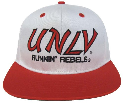 Image Unavailable. Image not available for. Color  UNLV Runnin Rebels Retro  2 Tone Script Snapback Cap Hat White Red 21360265ef51