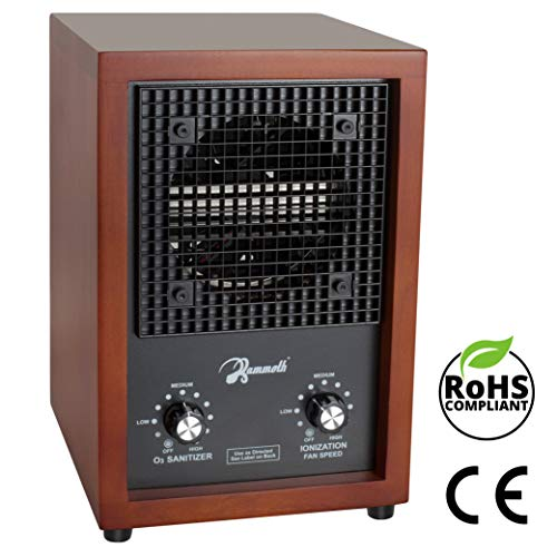 Mammoth HEPA Air Purifier & Ozone Generator for Home Use, 3,000mg Output (Cherry Wood)
