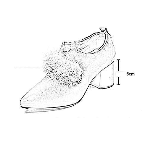 Puntiagudos Tacón Botas Cuero Us8 Tamaño Mujer color Zapatos eu39 Casuales Botines uk6 A Chelsea Medio A De Xiaolin cn39 YwqYBr8