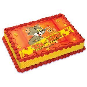 Amazoncom Tom and Jerry Edible Frosting Image Cake Topper Kitchen