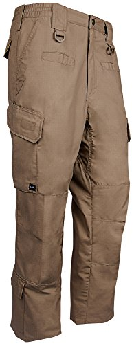 LA Police Gear Men's Water Resistant Operator Tactical Cargo Pants with Lower Leg Pockets - Coyote Brown - 42 x 36