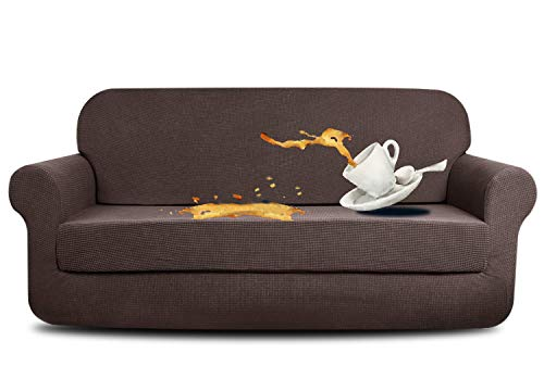 e Sofa Covers Water-Repellent Dog Cat Pet Proof Couch Slipcovers Protectors (Sofa, Coffee) ()