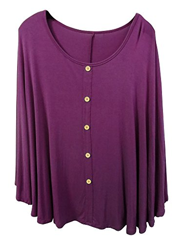 Full Cover Nursing Poncho By Duckery Kid - Breathable and Lightweight - 100% Modal (Plum)