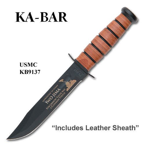 Iwo Jima Commemorative, USMC, Leather Sheath – Ka-Bar Knives, Outdoor Stuffs
