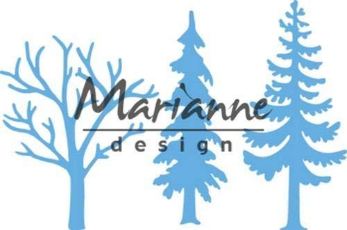 Metall Waldb/äume hellblau 4,5 x 5,6 cm Marianne Design LR0556 Creatables Pr/äge-und Stanzschablone f/ür Handwerksprojekte