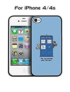Iphone 4s / 4 Creative Funda Case - TV Series Doctor Who Tardis Durable [Dust-Proof] Anti Scratch Funda Case With [High Impact] for Iphone 4s / 4 - By Phonecber