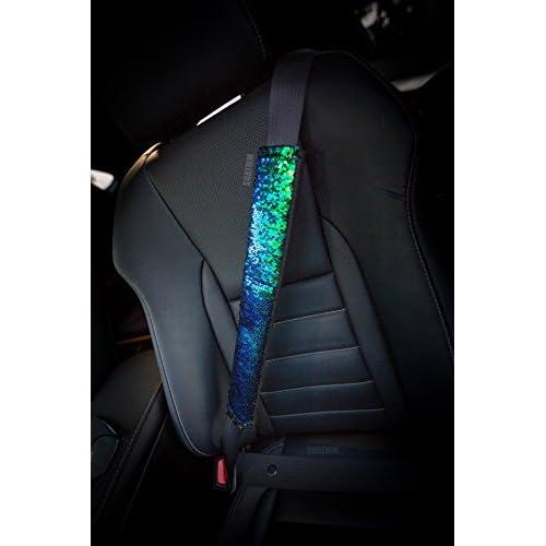 Pleasant Chic Color Changing Mermaid Scale Sequin Seatbelt Cover Creativecarmelina Interior Chair Design Creativecarmelinacom