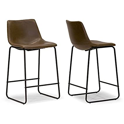 Prime Amazon Com Glamour Home Stools Iron Frame Dark Brown Faux Pdpeps Interior Chair Design Pdpepsorg