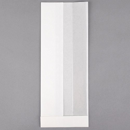 TableTop King Bagcraft Papercon 300092 4 1/4'' x 2 3/4'' x 11 3/4'' Dubl View ToGo! White Extra-Large Window Sandwich / Bakery Bag - 500/Case by TableTop King (Image #3)