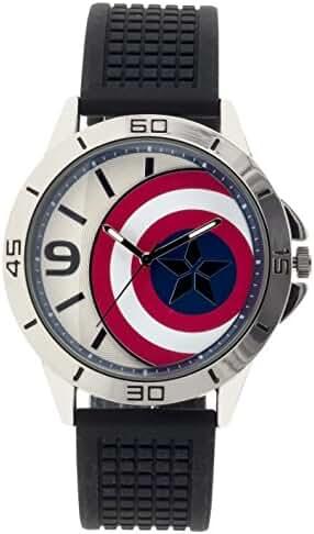 Marvel Boy's Quartz Plastic Casual Watch, Color:Black (Model: CAP3AQ16021)