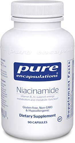 Pure Encapsulations – Niacinamide – Hypoallergenic Vitamin B3 to Support Energy Metabolism and Metabolic Function* – 90 Capsules