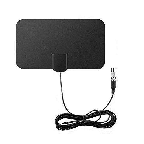 (TV Antenna HDTV Flat HD Digital Indoor Amplified 50-Mile Range VHF UHF DVB)