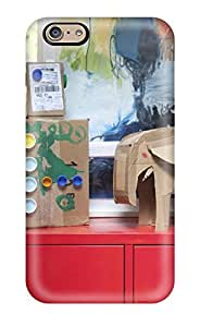 CATHERINE DOYLE's Shop New Style Case Cover Cardboard Art Projects On Red Cabinet With Wall Art In Background Compatible With Iphone 6 Protection Case 1497147K28808930