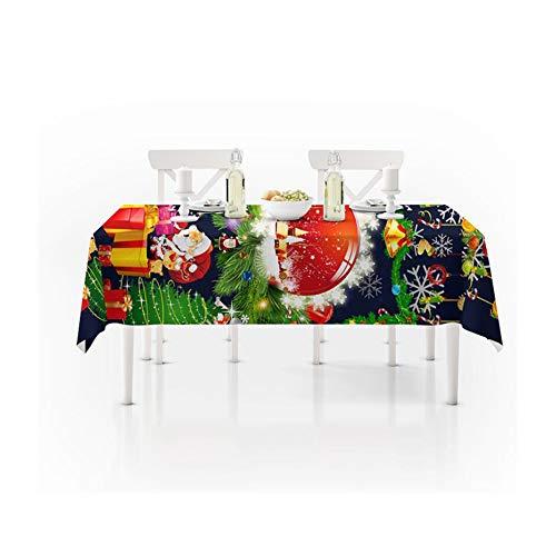 LHR888 Ano Nuevo Mantel de Navidad Cocina Decoraciones de Mesa de Comedor Hogar Rectangular Fiesta Cubiertas de Mesa Adornos navidenos (Size : 150 * 210)