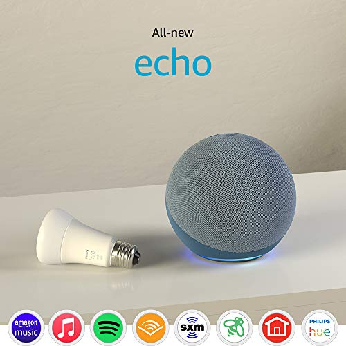 All-new Echo (4th Gen) with Philips Hue Bulb   Twilight Blue